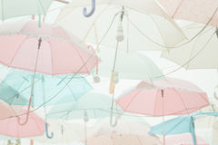 Umbrella pattern pastel Stock Photo