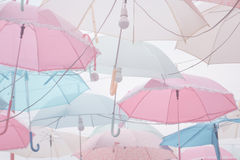 Umbrella pattern pastel Stock Image