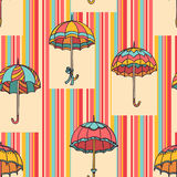 Umbrella Pattern Royalty Free Stock Photos