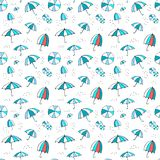 Umbrella pattern. Vector seamless pattern with umbrella Royalty Free Stock Photo