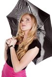 Umbrella pink skirt look up Royalty Free Stock Photo
