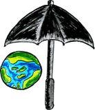 Umbrella Protect Earth Royalty Free Stock Photography