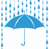 vector umbrella protection from rain drops Royalty Free Stock Image