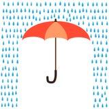 Umbrella protection from rain. Vector umbrella protection from rain Stock Image