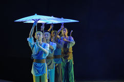 The umbrella of the queue-The dance drama The legend of the Condor Heroes Stock Image