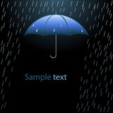 Umbrella in the rain. Vector illustration Royalty Free Stock Image