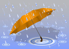 Umbrella in the rain Royalty Free Stock Image
