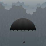 Umbrella in the Rain Royalty Free Stock Photo