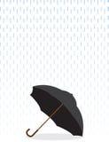 Umbrella In Rain Royalty Free Stock Images