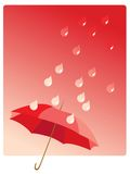 Umbrella and rain Stock Image