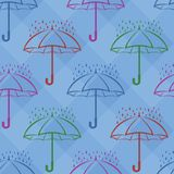 Umbrella and rain, background Stock Images