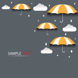 Umbrella and rain background  Royalty Free Stock Photos