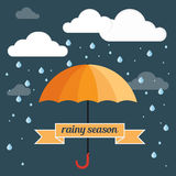 Umbrella rain Stock Image