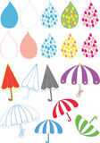 Umbrella_rain drop. The picture presents colorful umbrella and lovely raindrop which used for decorating the site, a presentation and other, depending on the Stock Photo