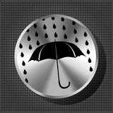 Umbrella and rain drops with chrome knob Royalty Free Stock Images