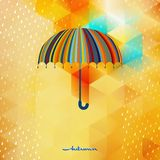 Umbrella and rain drops. EPS 10 Royalty Free Stock Images