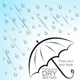 Dry text under umbrella Stock Images