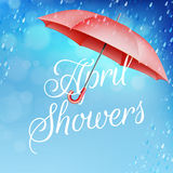 Umbrella in the rain. EPS 10 Stock Photo