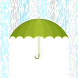 Umbrella and rain F. Protect and safety concept. Vector flat illustration of umbrella and rain drops. Infographic and design element for web, webdesign, publish vector illustration