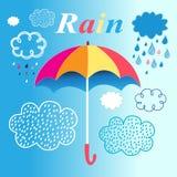 Umbrella and rain Stock Image