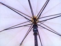 Umbrella. Rain industry crafts background Black n Sunglasses steel  view weather well n royalty free stock photography