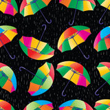 Umbrella rain seamless pattern Royalty Free Stock Photos
