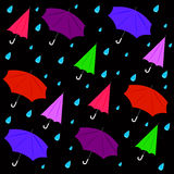 Umbrella with rain water background Royalty Free Stock Photography