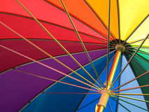 Umbrella with rainbow colors Stock Images