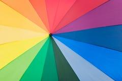 Umbrella with rainbow colors Royalty Free Stock Photos
