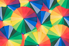 Umbrella with rainbow colors Royalty Free Stock Photo