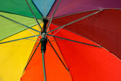 Umbrella in rainbow colors 3 Stock Photo