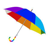 Umbrella in rainbow colors. On a white background Stock Photography