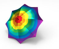 Umbrella with rainbow flower texture Stock Photo