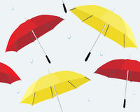 Umbrella and raindrops Stock Image