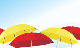 Umbrella and raindrops. Background Stock Images