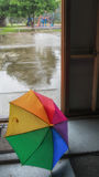 Umbrella on a rainy day Royalty Free Stock Photos