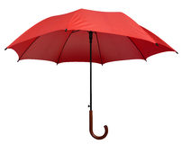 Umbrella - Red isolated Stock Photos