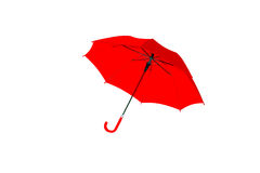 Umbrella red isolated on white background, object Royalty Free Stock Photos