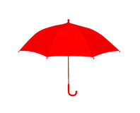 Umbrella red isolated on white background, object. Of protection against rain Stock Photo