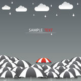 Umbrella red and rain background Royalty Free Stock Photo