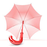 Umbrella. Red umbrella  on white background Stock Photo