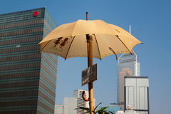 Umbrella revolution in Hong Kong Stock Photos