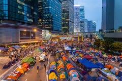 Umbrella Revolution in Hong Kong 2014 Stock Photo