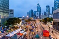 Umbrella Revolution in Hong Kong 2014 Stock Photography