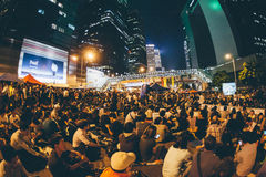 Umbrella Revolution in Hong Kong 2014 Stock Photography