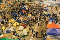 Umbrella Revolution in Hong Kong 2014 Stock Photos