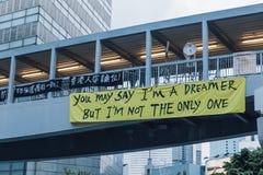 Umbrella Revolution in Hong Kong 2014 Royalty Free Stock Photography