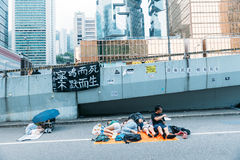 Umbrella Revolution in Hong Kong 2014 Stock Photo