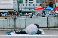 Umbrella Revolution in Hong Kong 2014 Stock Image