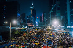 Umbrella Revolution in Hong Kong 2014 Stock Images
